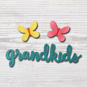 """Grandkids"" W/Butterfly Magnets"