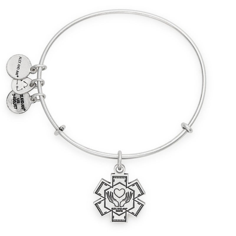Medical Professional Charm Bangle | Silver