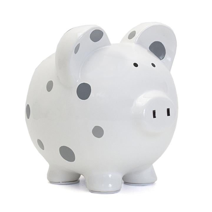 Multi-Dot Piggy Bank Gray
