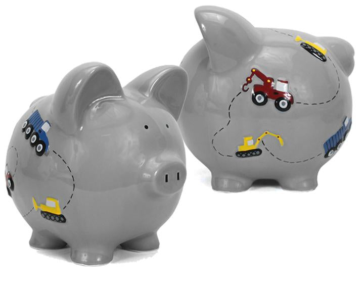 Construction Piggy Bank | Gray