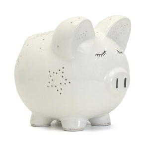 White Night Light Pig