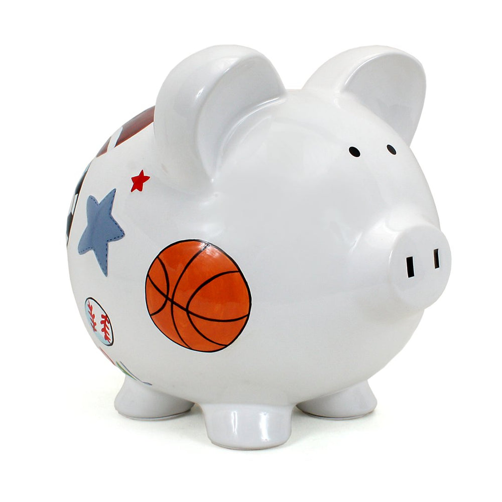 Sports Watercolor Piggy Bank