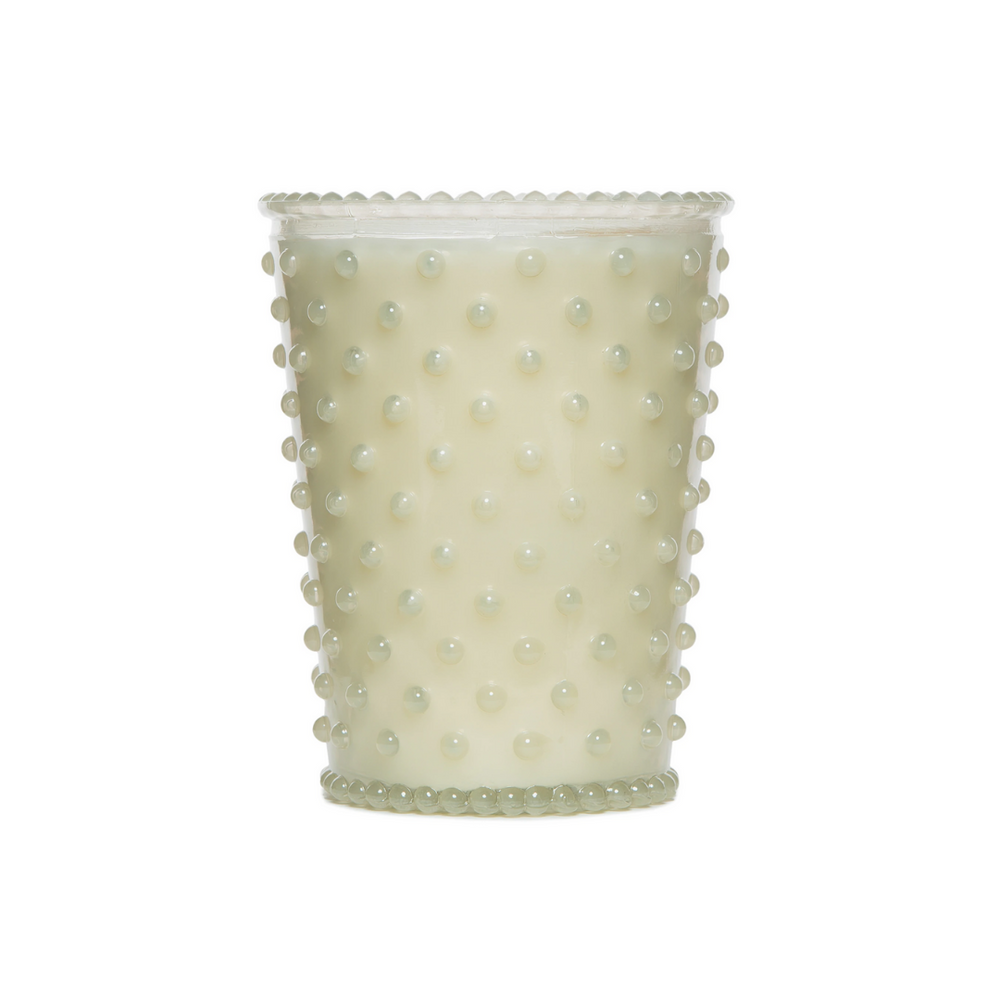 Hobnail Glass Candle | No. 42 White Flower