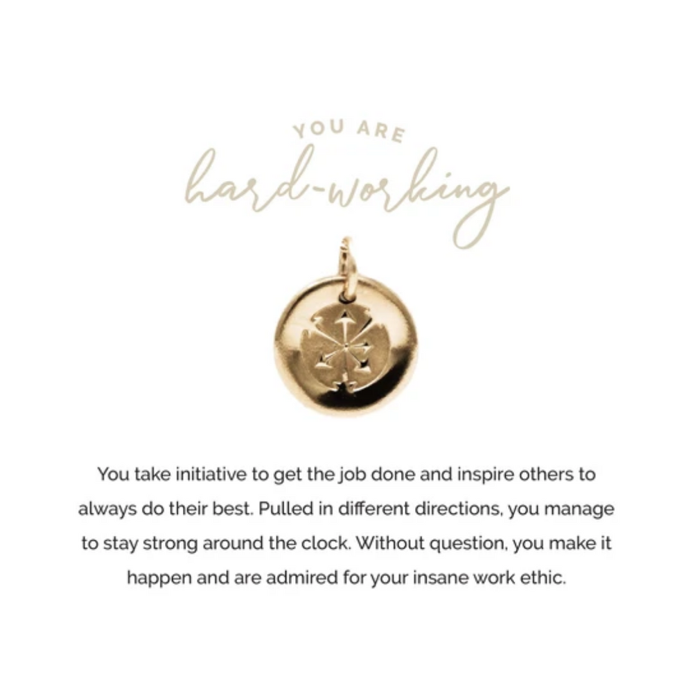 Necklace Charm | Hard-Working