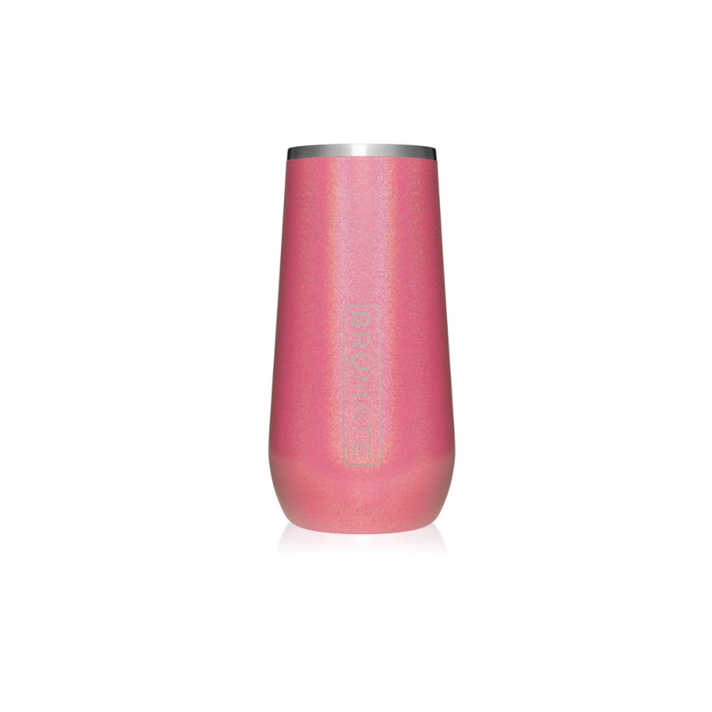 Champagne Flute: Glitter Pink