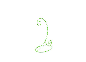 Coton Colors Ornament Stand: Lime Green & White