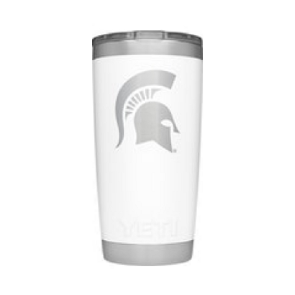 YETI White Collegiate Rambler 20oz Tumbler: Michigan State
