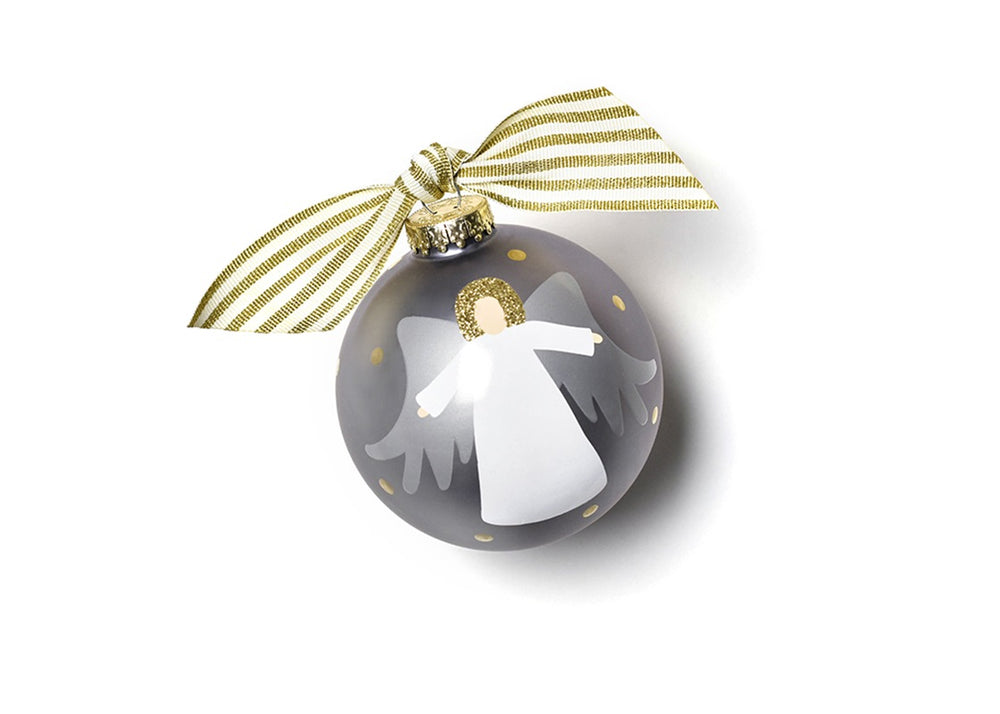 Forever In Our Hearts Angel Glass Ornament