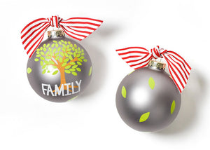 Family Tree Glass Ornament
