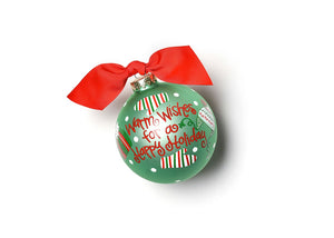 Warm Wishes For A Happy Holiday Glass Ornament