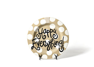 Neutral Dot Happy Everything!™ Round Platter