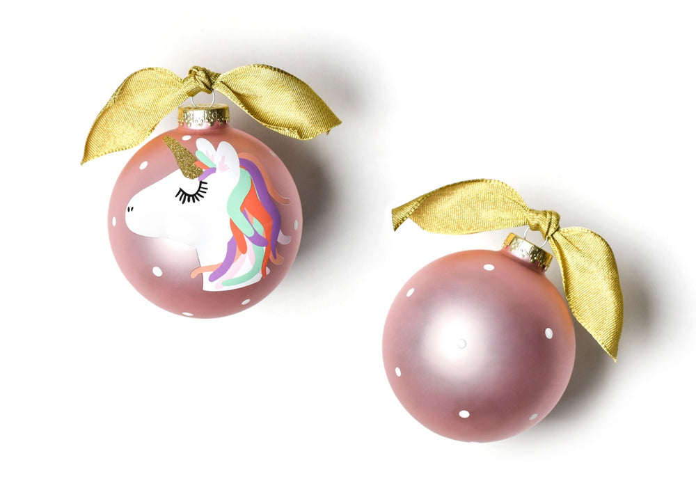 Unicorn Glass Ornament