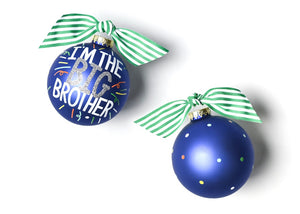 Big Brother Popper Glass Ornament