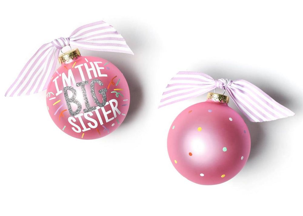 Big Sister Popper Glass Ornament