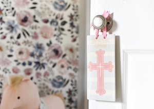 "Bless This Child 9.5"" Door Plaque - Girl"