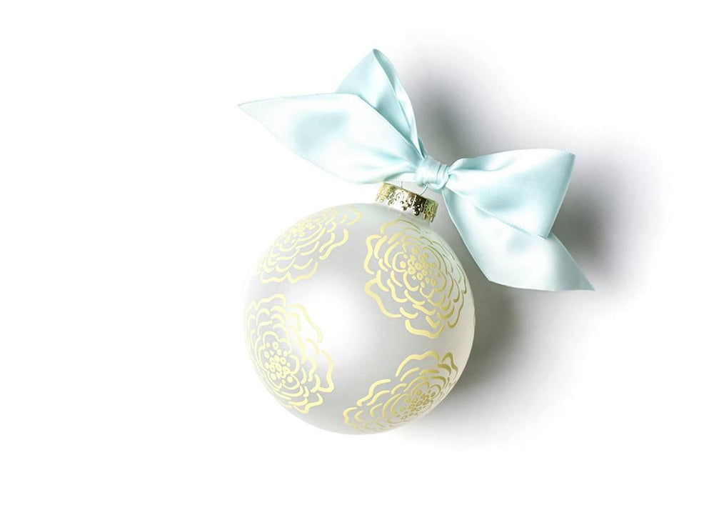Floral Bridesmaid Glass Ornament