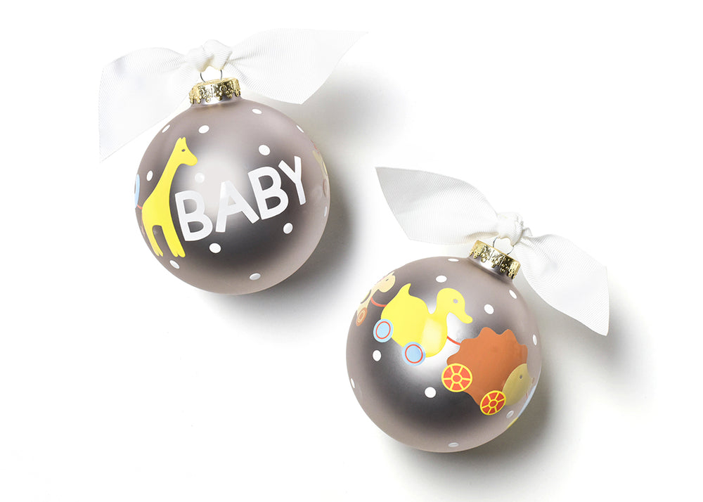 Baby Toy Glass Ornament