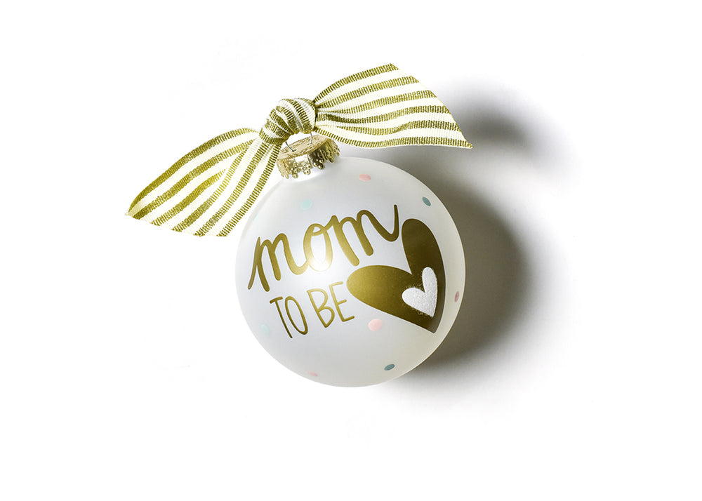 Mom To Be Glass Ornament