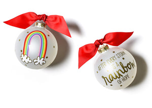 Rainbow of Hope Glass Ornament
