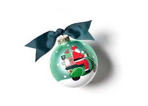 Here Comes Santa Claus Glass Ornament