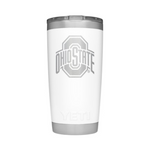 YETI White Collegiate Rambler 20oz Tumbler: Ohio State University