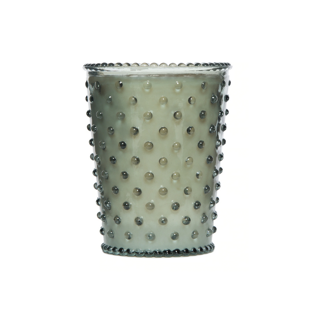 Hobnail Glass Candle | No. 17 Fern