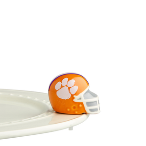 Nora Fleming Clemson Helmet Mini