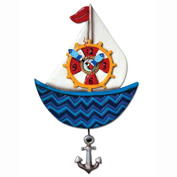 Ahoy Sailboat Clock
