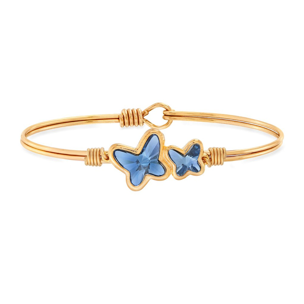 Butterflies Bangle Bracelet | Denim Blue