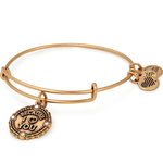 Because I Love You Charm Bangle | Gold