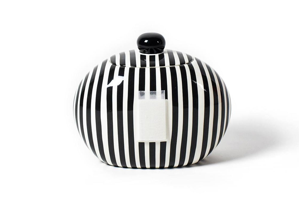 Black Stripe Big Cookie Jar