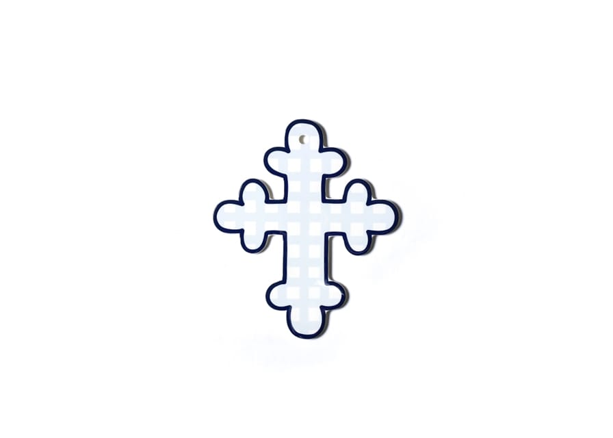 "Blue Gingham 10"" Cross"
