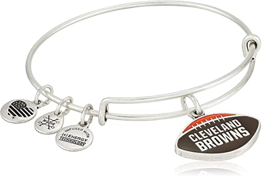 Cleveland Browns NFL Charm Bangle | Silver