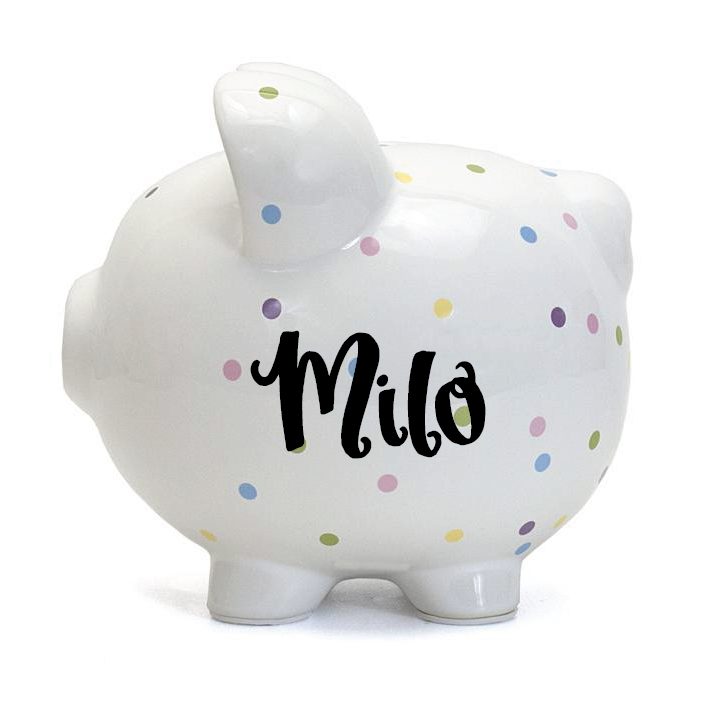 Confetti Dot Piggy Bank