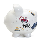 Construction Piggy Bank White