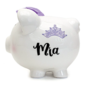Fairytale Lavender Piggy Bank