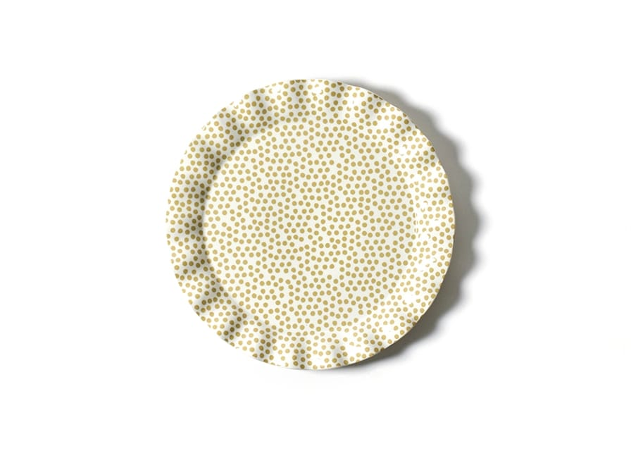 Cobble Small Dot Ruffle Round Platter