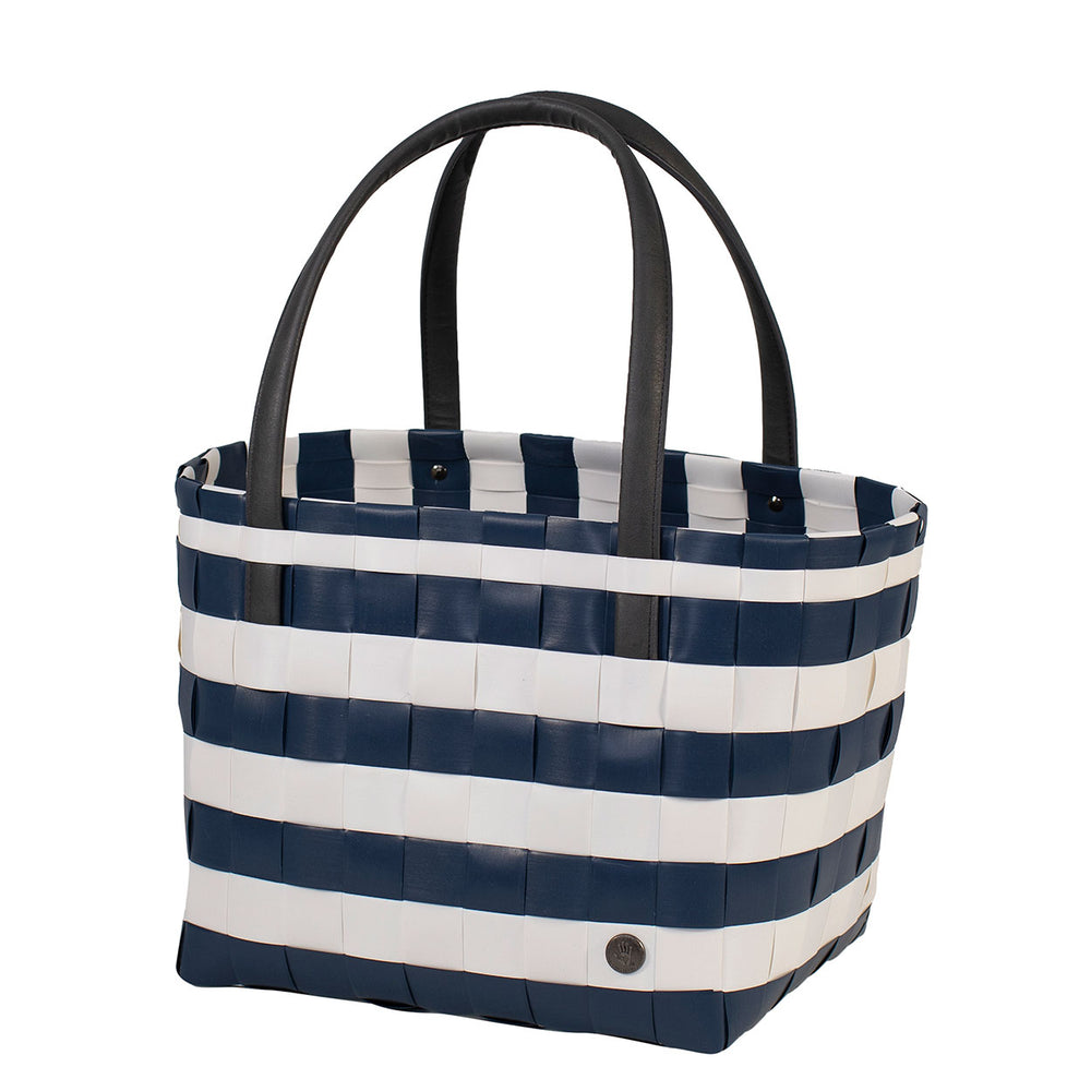 Handed By Color Block Recycled Tote | Vintage Ocean Blue