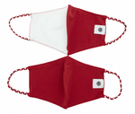 2 Pack Pom Masks | Crimson & White