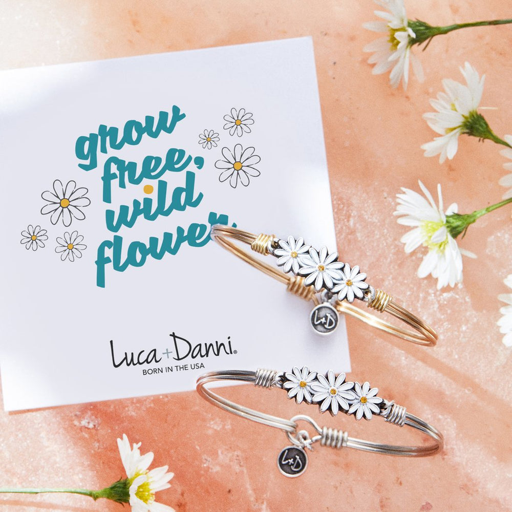 Daisies Bangle Bracelet