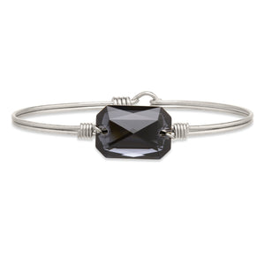 Dylan Bangle Bracelet in Graphite