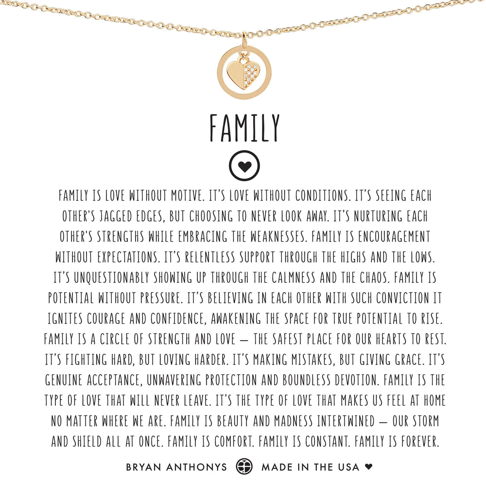Family Necklace | Gold