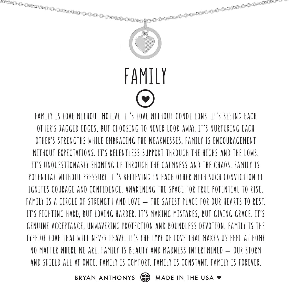 Family Necklace | Silver