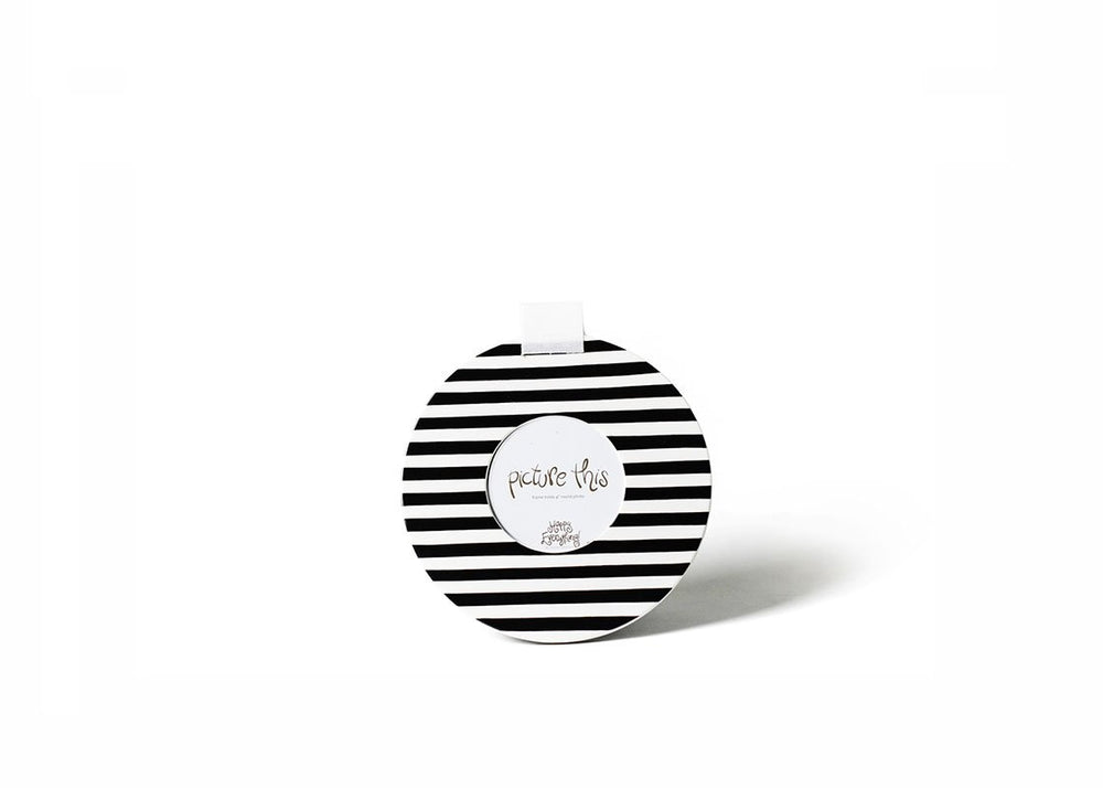 Black Stripe Mini Round Frame