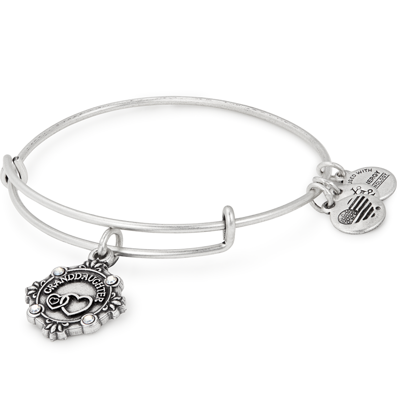 Granddaughter Because I Love You Charm Bangle | Silver