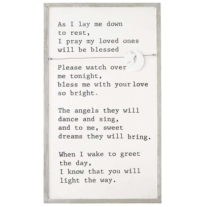 Goodnight Prayer Charm Plaque