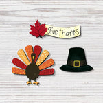 Give Thanks Banner W/Thanksgiving Magnets