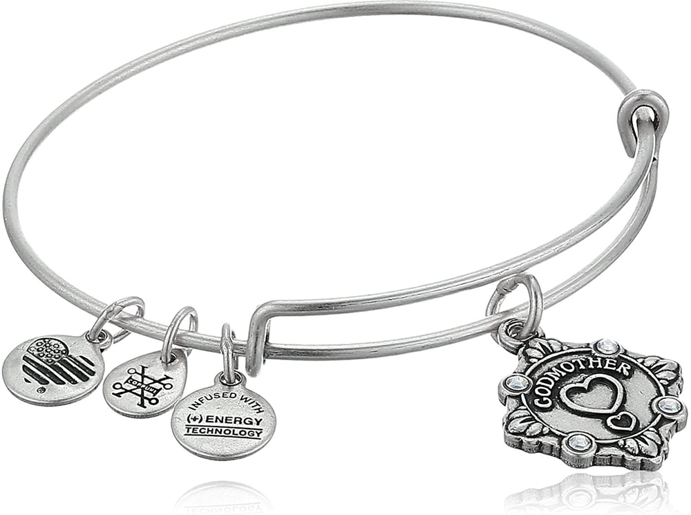 Godmother Because I Love You Charm Bangle | Silver