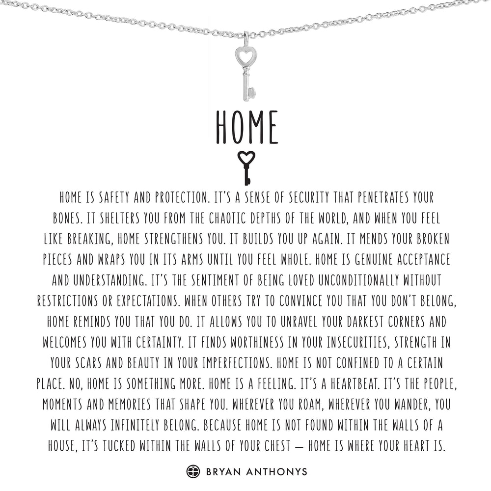 Home Dainty Key Necklace | Gold