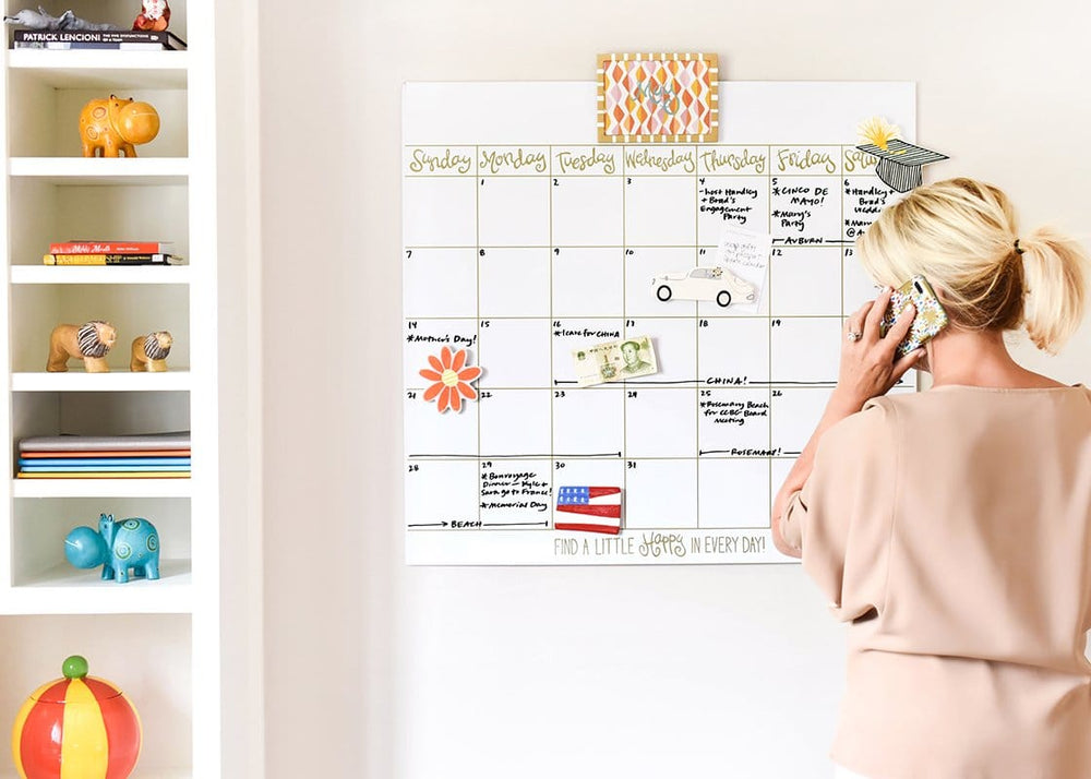 Happy Everything Magnetic Dry Erase 30in Wall Calendar